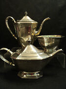 Bailey Banks And Biddle Sterling Silver 3-piece Coffee / Tea Set
