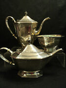 Bailey, Banks And Biddle Sterling Silver 3-piece Coffee / Tea Set