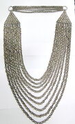 Vintage Antique Solid Silver Flexible Link Chain Necklace Rajasthan India