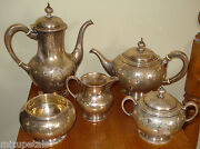 Rare Antique S Kirk And Son Sterling Coffee And Tea Set 59.71 Troy Ozs. Not Scrap