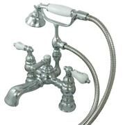 Kingston Brass Chrome Deck Mount Clawfoot Tub Faucet With Hand Shower Cc1154t1