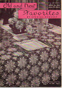 1947 Clarkand039s Ont Jandp Coats Crocheted Old And New Favorites Booklet Doilies Table