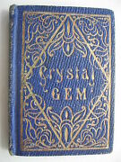1853 J. Buffum The Crystal Gem All Water Poems 96 Pages Miniature Book