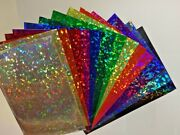 Holographic Crystal Sign Vinyl Choose Size And Color Holocrystal Cracked Ice