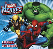Marvel Heroes Comic Art 16 Month 2013 Wall Calendar Style 1, New Sealed