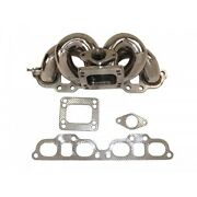 Manzo Stainless Steel Header Fits 240sx S13 S14 89-98 Sr20 Top Mount T3 T4