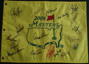 Masters Flag Autographed By 18 Winners Palmer Nicklaus Player W/ Proof