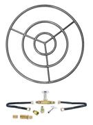 6 12 18 24 30 Stainless Steel Gas Fire Pit Burner Ring Deluxe Kit Ng Lp