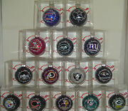 U Pick Your Team Nfl Christmas Tree Color Ornament 2 5/8 In Glass Ball W Holder