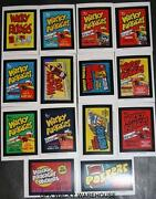 Wacky Packages Old School 4 Complete Wrappers Ads Stickers Set 14/14 Ludlow Back