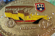 Rare German Adac Winter Race Car Badge Showing Ford Model From 1906