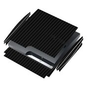Skinomi Carbon Fiber Black Game Console Skin Cover For Sony Playstation 3 Slim