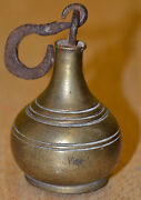 Free Priority Ship Vtg Antique Brass Lead Iron Pear Hanging Balance Scale Weight