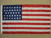 U.s. 34-star Union Civil War Indoor Outdoor Nylon Historical Flag Grommets 3and039x5and039