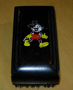 Vintage Mickey Mouse Hair Brush Hughes Usa C. 1930and039s Early Walt Disney