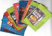 2012 Wacky Packages Series Ans 9 Motion Bag Tags Complete Set 9/9 Sticker Cards