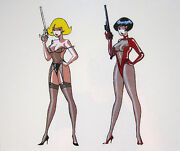 French Playboy Original Hand Painted Animation Art Production Cel, Circa 1992