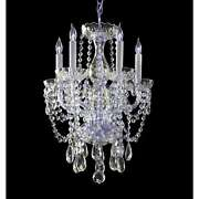 Crystorama Traditional 5 Light Crystal Mini Chandelier - 1129-ch-cl-s