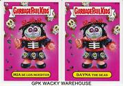 2013 Garbage Pail Kids Brand New Series Bns 2 Rare Bonus Cards Day Of The Dead