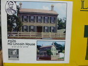 Branchline Laser-art Structures Ho 626 The Lincoln House 6-1/2 X 5-1/2 X 4 1/2