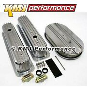 Chevy 350 Retro Half Finned Vortec And Tbi Valve Covers Air Cleaner Dress Up Kit