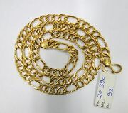 Vintage Solid 22 K Gold Handmade Link Chain Necklace Rajasthan India