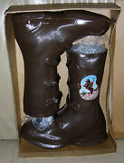 Gene Autry Rubber Buckle Boots Old Store Stock Servius Size 11.5 C. 1950and039s