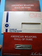 J And S Hawken Plains Rifle Gun Weapons Hall Fame Silver Bar Mint Sealed Papers