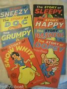 Snow White And Seven Dwarfs Complete Set Of 1938 Soft Cover Walt Disney Books