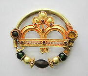 Vintage Antique Ethnic Tribal Solid 18k Gold Jewelry Nose Ring Nath India
