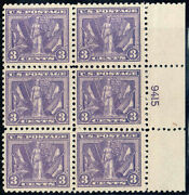 537 Right Side Pb9415 1919 3c Victory Issue Mint-og/hinged On 1 Stamp--vf/xf