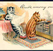 Uncommon Tuck Wainquite Among Ourselves Cats At Home Cooking1903 Postcard