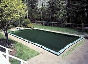 18'x36' Winter Swimming Pool Cover And 12 Water Tube Kit For Inground Pools