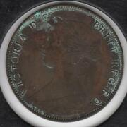 1861 Extremely Fine Great Britain Half Penny 1 Corrosion