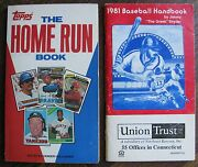1981 Baseball Handbook By Jimmy The Greek Snyder And 1981 The Home Run Book
