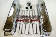 Bb Chrysler Mopar 383-440 Chrome Engine Dress-up Kit W/ Valve Covers And Wing Nuts