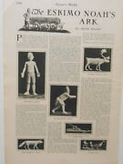 Harperand039s Weekly Page Eskimo Noahand039s Ark Wood And Walrus Bone Carving Toys 1901