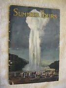 1921 North Western Union Pacific Rr Railroad National Parks Tours Booklet