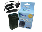 Charger, Eu And Car Plug Adapter For Olympus Vg-130, D-700, Fe-5040
