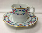 Mottahedeh Bargello Teacup And Saucer Porcelain New Portugal