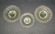 Vintage Set Of 3 Sterling Silver Repousse Footed Baskets - 11.5 And 9 -1273 Gram