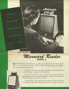 Microcard Reader Model 3 Northern Engraving And Manufacturing Company 1960 C.a