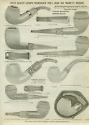 Catalog Page Ad Antique Meerschaum Pipes Cigar And Cigarette Holders Gold 14k 1907