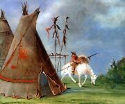 Comanche Lodge Of Buffalo Skins American Usa Indian 1834 By George Catlin Repro