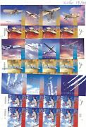 Israel 2014 100 Years Aviation In Israel Non Perforated Sheets Artist Signed Mnh