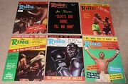 12- Vintage 1972 The Ring Boxing Magazine Lot 1 Full Year In Great Condition