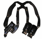 Leather Horizontal Shoulder Holster For Walther Ppk Ppks Pps Ppq Ppx Pk380 Guns