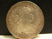 1805 Silver Draped Bust Quarter Dollar-vg Condition Speciman.-free Shipping