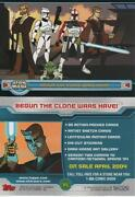 Star Wars Topps The Clone Wars Animated Series Promo Trading Card P1