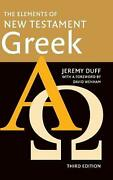 The Elements Of New Testament Greek By Jeremy Duff English Hardcover Book Free